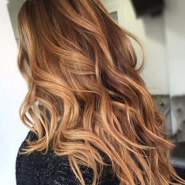 ترکیب رنگ موی نسکافه ای با رنگ مو شکلاتی